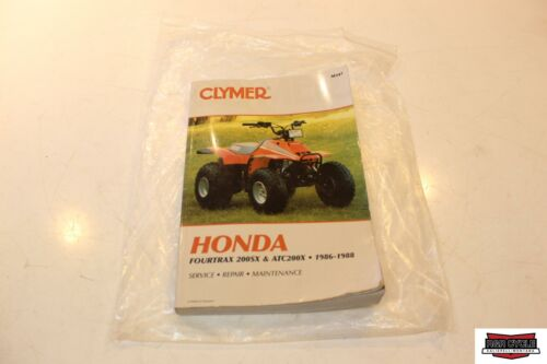 Clymer Service Manual Book For Honda Fourtrax 200SX and ATC200X 1986-1988 M347