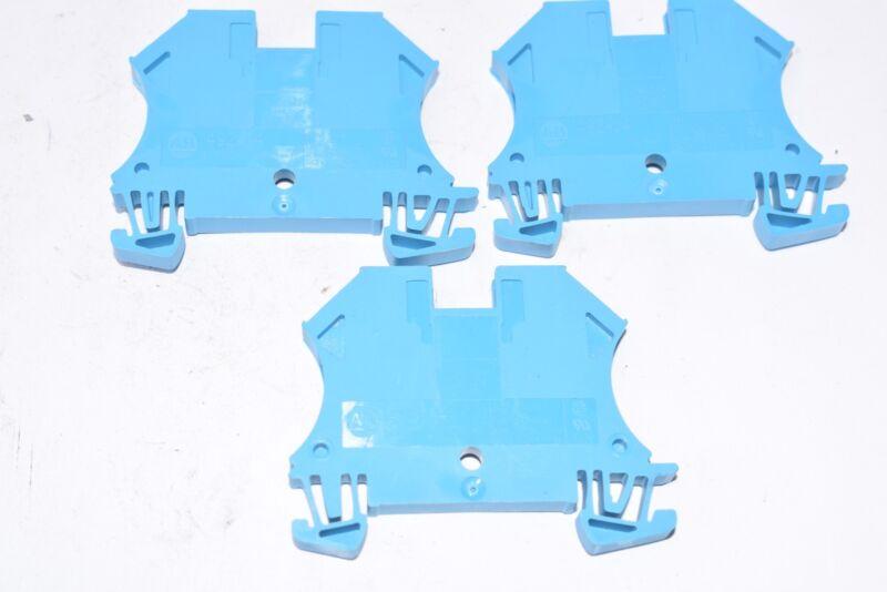 Lot of 3 NEW Allen Bradley 1492-J4 Terminal Blocks - Blue