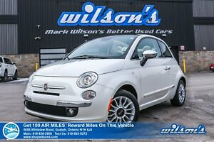 2014 Fiat 500c LOUNGE CONVERTIBLE | TWO-TONE LEATHER | HTD SEATS