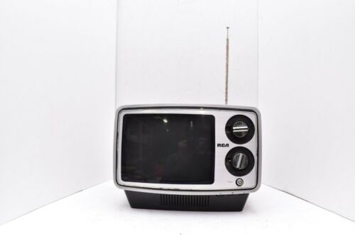Vintage RCA Portable TV Retro television 1970s Gaming Space Age B&W Solid State