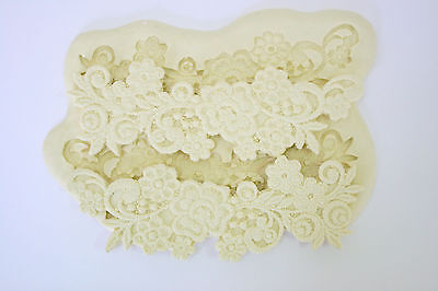 Lace Mold Silicone Mould for sugarcraft, Cake, Clay - Ellegance Flower Lace
