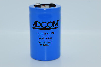 1 Psc 15000uf 100v Large Electrolytic Capacitor Adcom Made In Usa