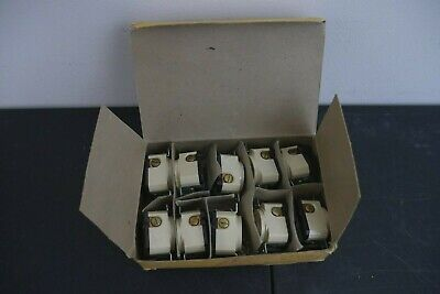 Vintage Hubbell New Old Stock Three Prong Outlets 20a 250v With Screws 10 Count
