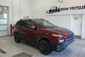 2017 Jeep Cherokee Trailhawk *V6, HEATED LEATHER INTERIOR, REMOT