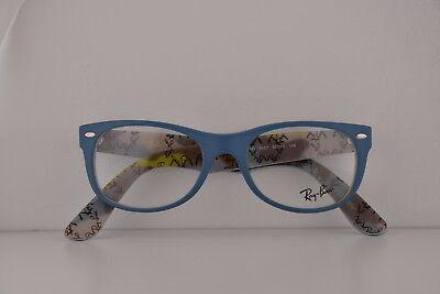 Ray Ban RX5184 Brille 50-18-145 Blau mit / Demo Klar Linse 5407 RB5184 5184