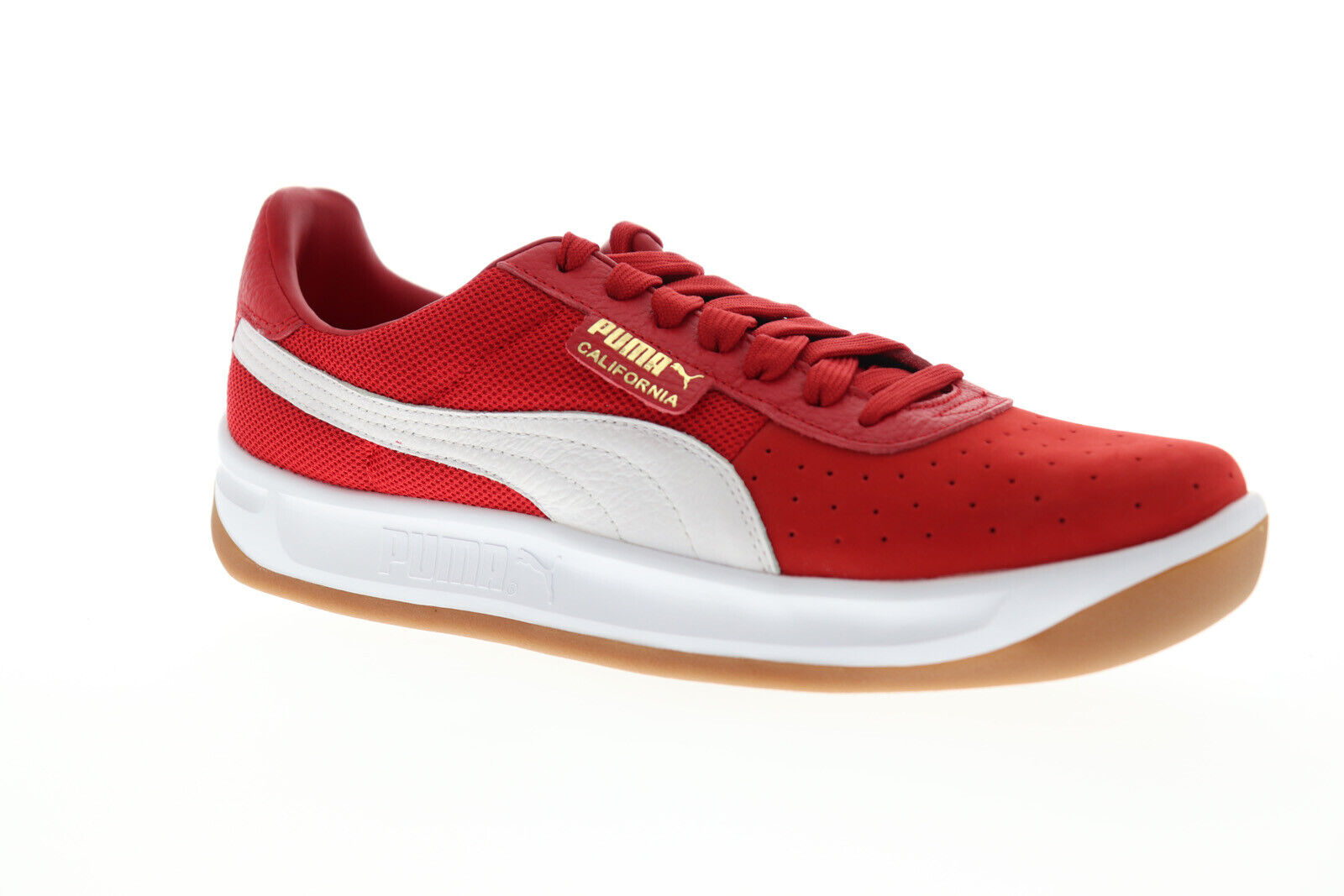 Puma California Casual 36660807 Mens Red Mesh Classic Low top Sneakers Shoes