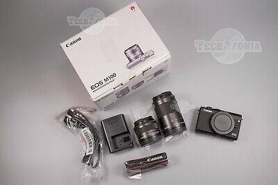 NEW Canon EOS M100 24.2MP Camera +EF-M 15-45mm IS +EF-M 55-200mm IS STM Lens KIT