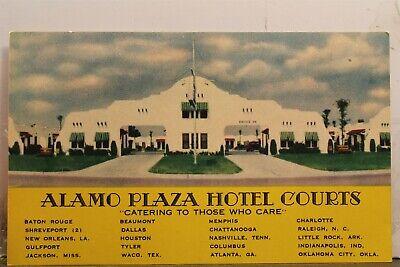 Ad Alamo Plaza Hotel Courts Postcard Old Vintage Card View Standard Souvenir PC