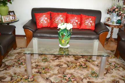 Glass Coffee Table Quakers Hill Blacktown Area Preview