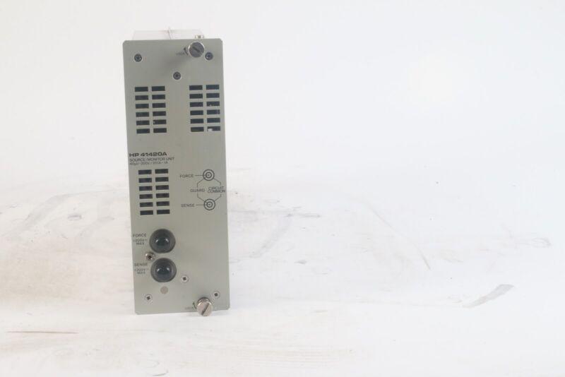 HP 41420A Source / Monitor Unit 40uV-200V / 20fA-1A / Plug In