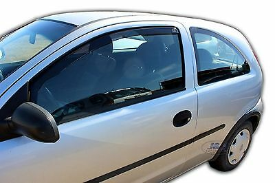 Vauxhall Corsa C mk2 3 door Front wind deflectors 2000-2006 2pc  TINTED HEKO