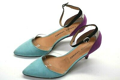 Chinese Laundry OLH-023 Womens Size 8.5 High Heel Ankle Strap Shoes Purple/Blue