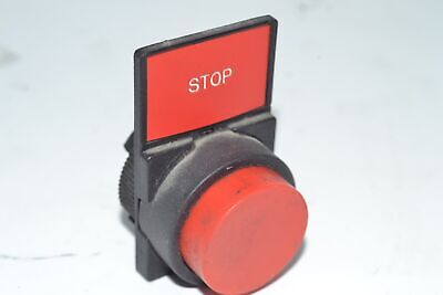 Red Emergency Pushbutton Switch Stop