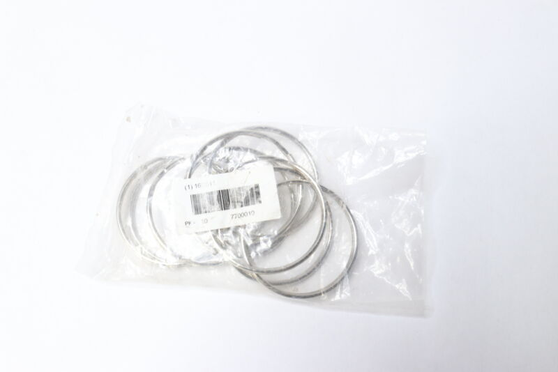 """Lucky Line Products 7700010 Nickel Plated Steel Split Ring 2"""" - 10 Pack"""