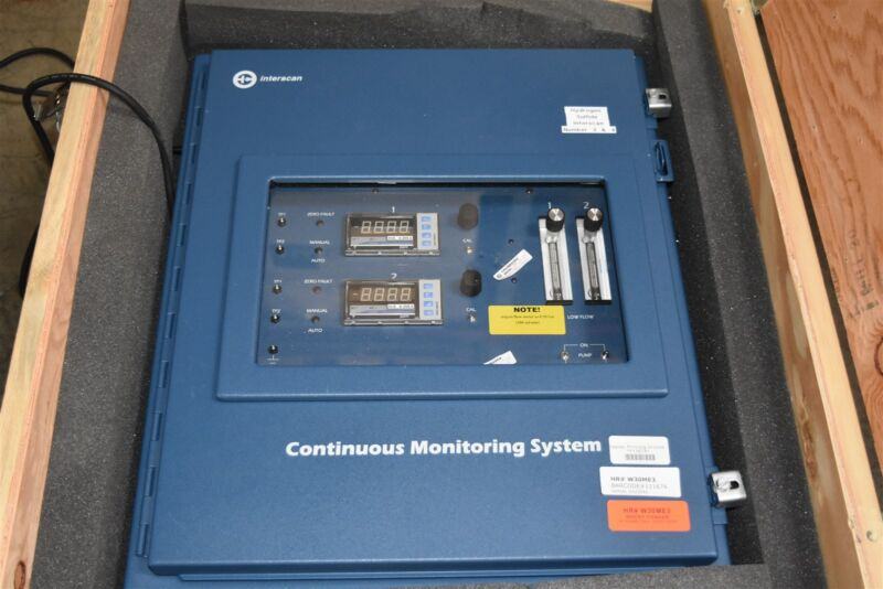 Interscan LD217 Two Point Continuous Gas Monitoring System Hydrogen Sulfide