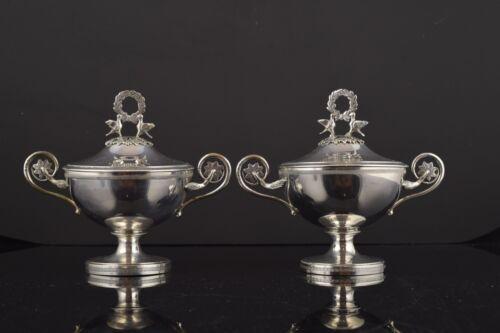 Pair of saucers in silver. Antonio Martínez, Platerías Martínez, Madrid, 1797.
