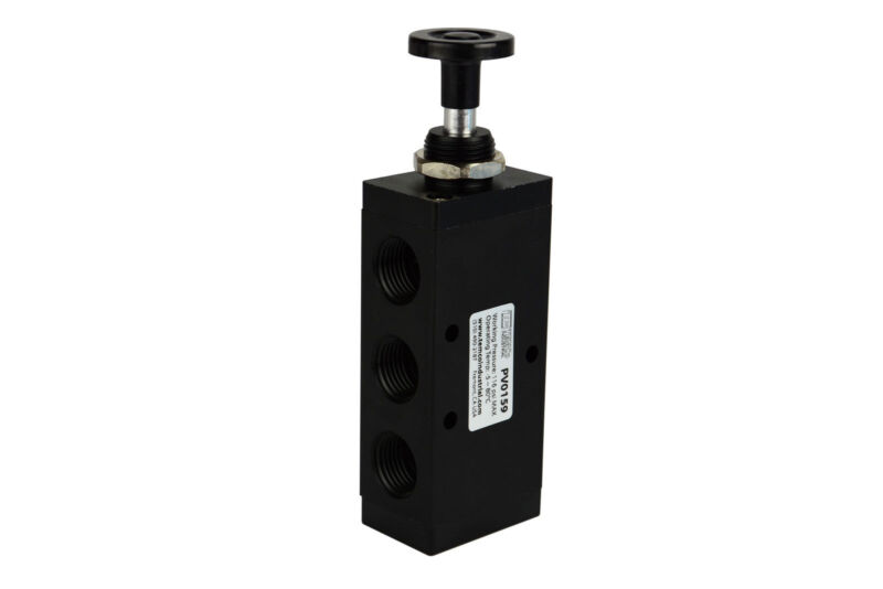 "NEW Hand Push Pull Pneumatic Air Control Valve 5 Port 4 Way 2 Position 1/2"" NPT"