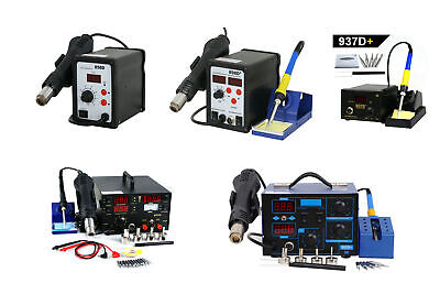 - Electric SMD Soldering Iron Hot Air Gun Rework Station Desoldering Repair 110V
