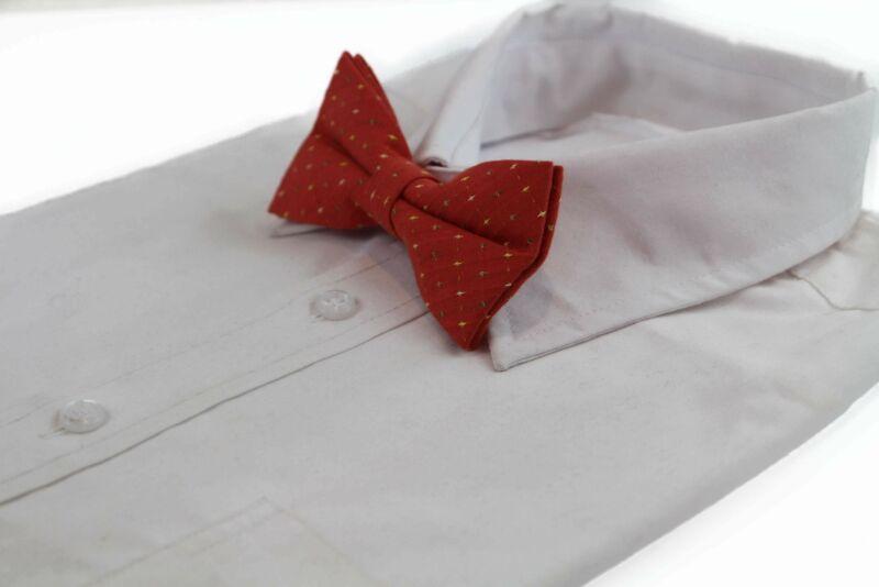 Mens Orange Multicoloured Star Cotton Bow Tie
