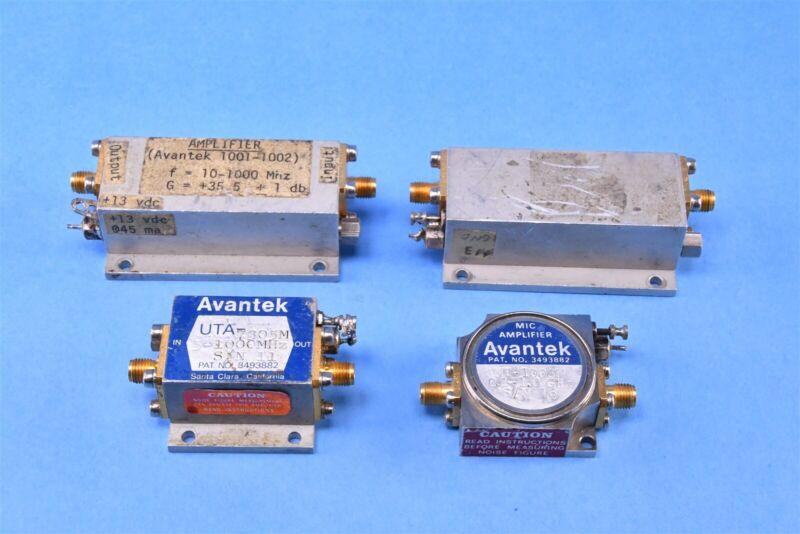 (4) Avantek RF Amplifier 5-1000 MHz .1-1.0 GHz Avantek UTA-7305M / 1001-1002