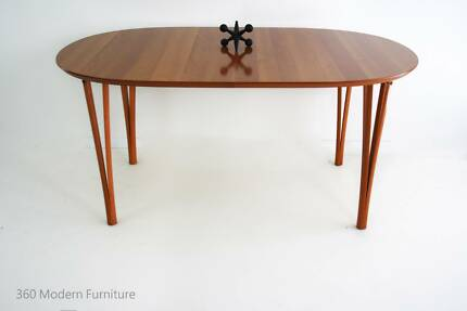 Stunning Dining Table Desk Hairpin Legs 20th Century Danish