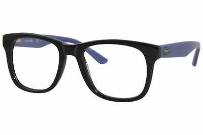 Lacoste L3614 001 Eyeglasses Youth Boy's Black/Blue Full Rim Optical Frame 45mm