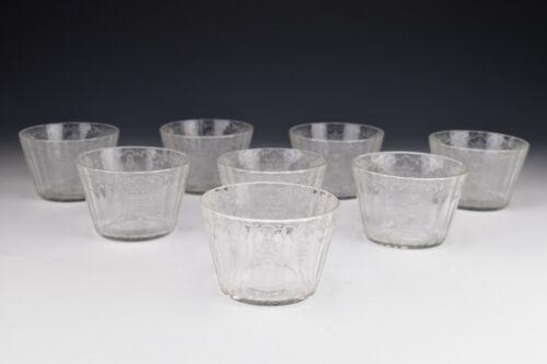 Rare Set of 8 By Joseph Lobmeyr Glass Brandy Fluted Tumblers Engraved