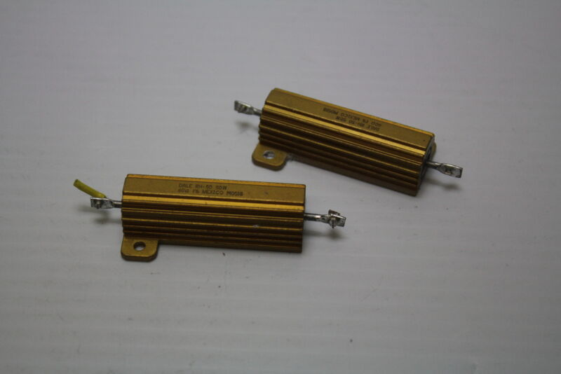 Dale RH-50 50W 60 Ohm  1% Power Resistor ( lot of 2 )Used