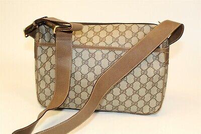 Gucci Italy Made Vintage Signature Monogram GG Crossbody Satchel Shoulder Bag
