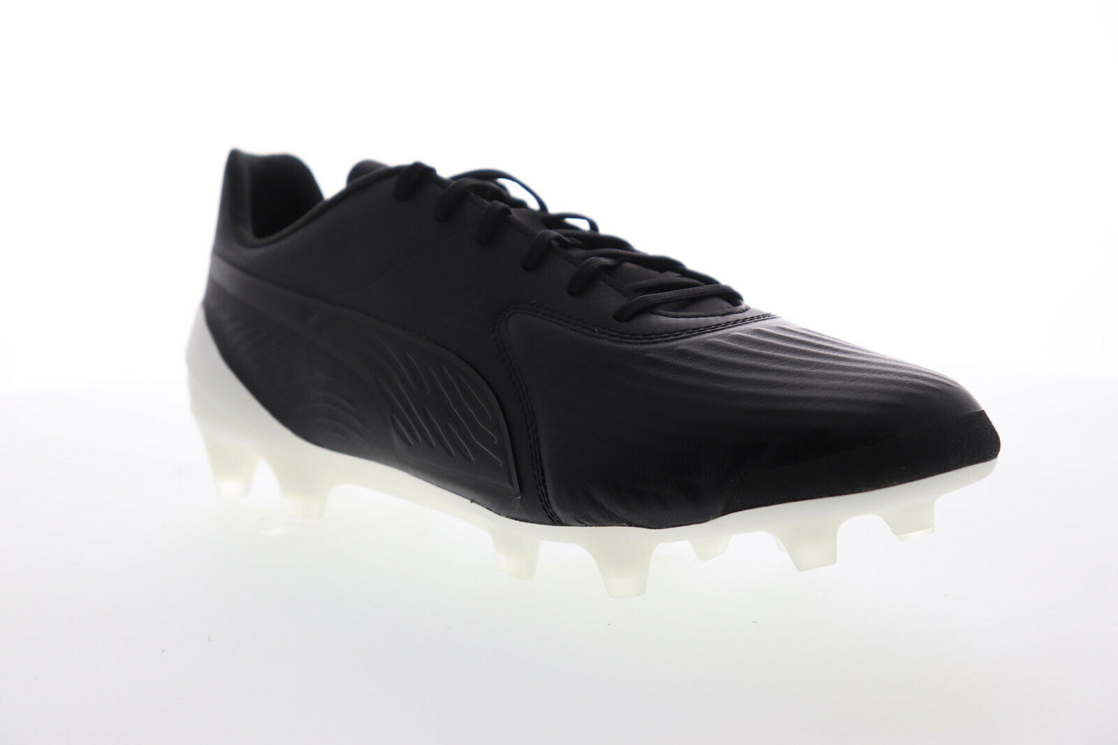 Puma One 19.1 Cc FG AG 10548202 Mens Black Low Top Athletic Soccer Cleats Shoes