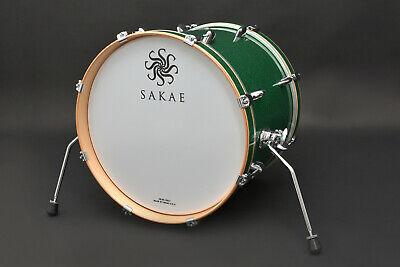 SAKAE Trilogy Bassdrum 18x14 Green Sparkle