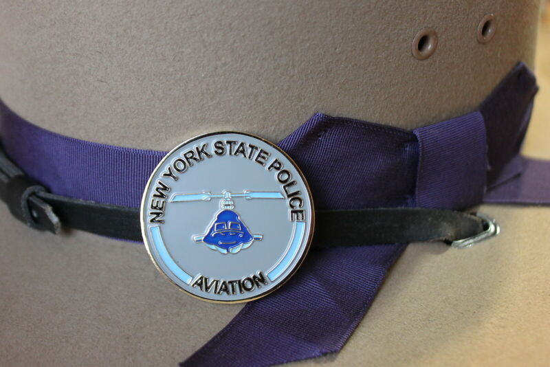 New York State Police Aviation challenge coin