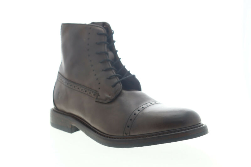 Frye Murray Lace Up 80269 Mens Brown Leather High Top Zipper Casual Dress Boots