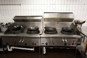 Selling Working Commercial Wok Burners SECOND HAND  2 AVAILABLE Prahran Stonnington Area Preview