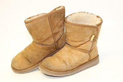UGG Australia Uggs Kids 4 34 Shawnee Short Leather Sheepskin Boots 1011472 jg
