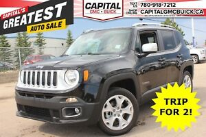 2017 Jeep Renegade LIMITED 4WD | NAV | HEATED LEATHER | SUNROOF