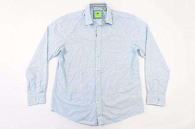 Park West Light Blue Xl Geo Pattern Button Down Shirt Mens Nwt New