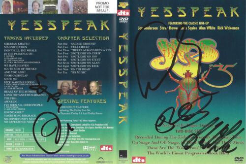 YES YESSPEAK DVD signed by Jon Anderson, Chris Squire, Alan, Rick & Steve