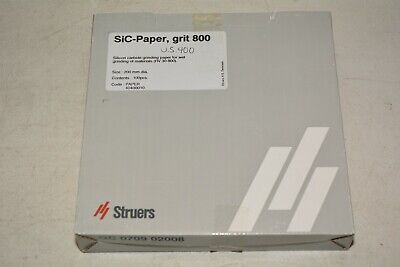Struers Inc. 40400010 Grit 800 Sic-paper 200mm Diameter Box With 100pcs 3