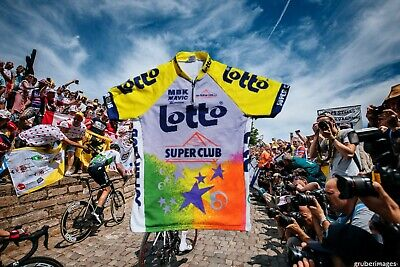 Santini Lotto SUPER CLUB CYCLING JERSEY SIZE XXL Cycling Jersey Bike Vintage 90s