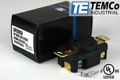 Temco Nema L14-30 Female Receptacle 30a 125250v Locking Ul For Generator