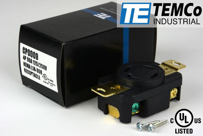 TEMCo NEMA L14-30 Female Receptacle 30A 125/250V Locking UL for Generator