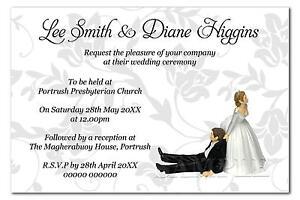 Personalised Wedding Invitations Sample