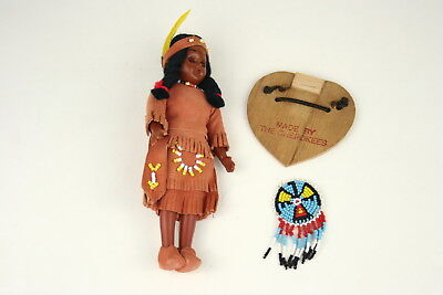"Made by the Cherokees 7.5"" Plastic Doll Sleep Eyes"