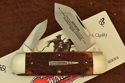 WINCHESTER USA BURNT ORANGE BONE ELEPHANT TOENAIL SUNFISH KNIFE 1995 NICE (7571)