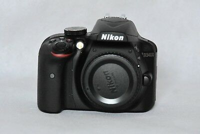 Nikon D3400 Digital SLR Camera + 18-55mm AF-P VR Lens Black. No reserve auction!