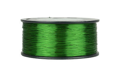 Temco Magnet Wire 26 Awg Gauge Enameled Copper 155c 1.5lb 1887ft Coil Green