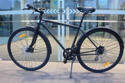 New City bike Chromoly frame Shimano 8speed hydraulic disc brakes
