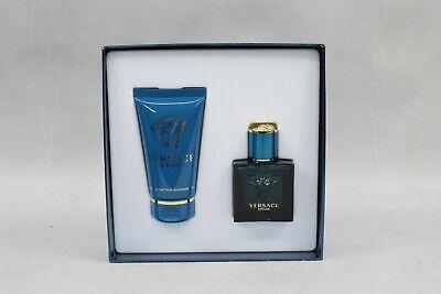 Versace Eros Gift Set Eau De Toilette For Him 30 ml Invigorating Shower Gel NEW