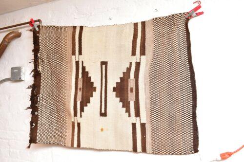 "Vintage Navajo Rug native american indian weaving Textile Antique 42""x30 LARGE"